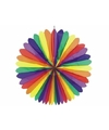 Grote regenboog decoratie waaier