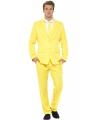 Heren kostuum geel