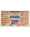 Houten stempelset alfabet