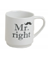 Mr Right porseleinen beker