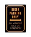 Muurplaatje Bikers Only van metaal  30 x 40 cm