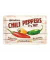 Muurplaatje Chili Pepers