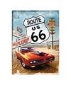 Muurplaatje Route 66