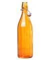 Oranje fles met beugeldop