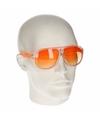 Oranje retro zonnebril type 0176