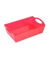 Plastic schaal rood 26 cm