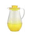 Plastic schenkkan met koelfunctie geel