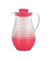 Plastic schenkkan met koelfunctie rood