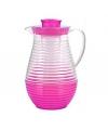 Plastic schenkkan met koelfunctie roze