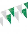 Plastic vlaggenlijn groen/wit