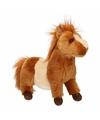 Pluche Shetland pony bruin/wit 36 cm