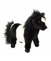 Pluche Shetland pony zwart 36 cm