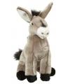 Pluche zittende ezel 26 cm