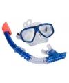 Pro snorkelset blauw voor volwassenen