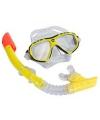 Pro snorkelset geel voor volwassenen