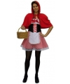 Roodkapje kostuum voor dames