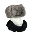 Russische bontmuts grijs
