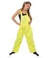 Tuinbroek fluor geel voor kinderen