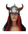 Vikinghelm met rood/zwart haar