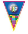 Vlaggenlijn Disco 5 meter