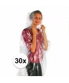 Voordeelpakket 30x wegwerp regenponcho
