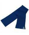 Voordelige kinder fleece sjaal donkerblauw