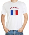 Wit t-shirt Frankrijk heren