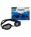 Zwarte zwembril met latex hoofdband