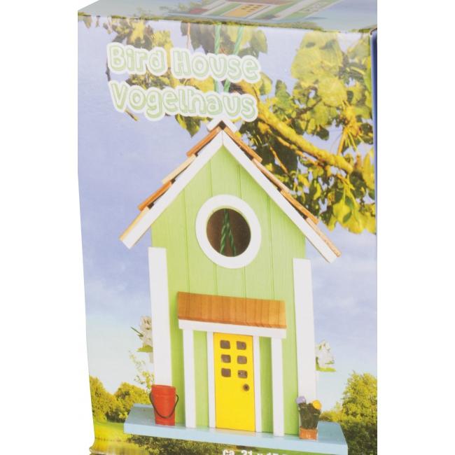 Groen vogelhuisje 15 x 20 cm
