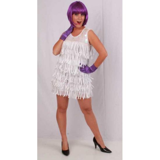 Wit glamour jurkje voor dames