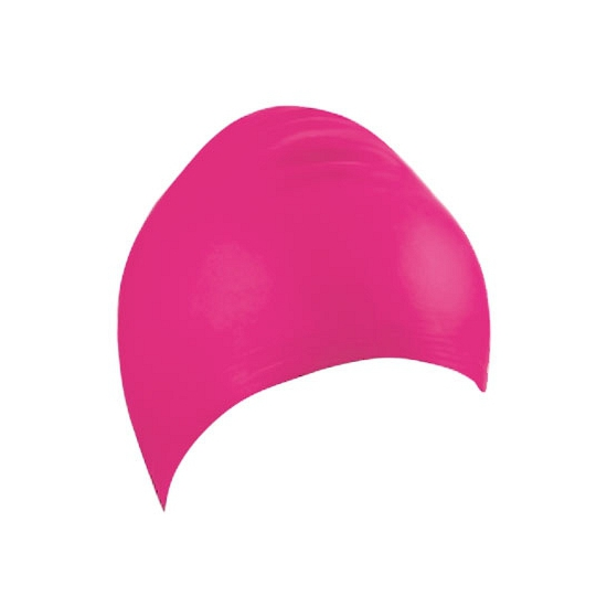 Roze latex badmuts voor volwassenen