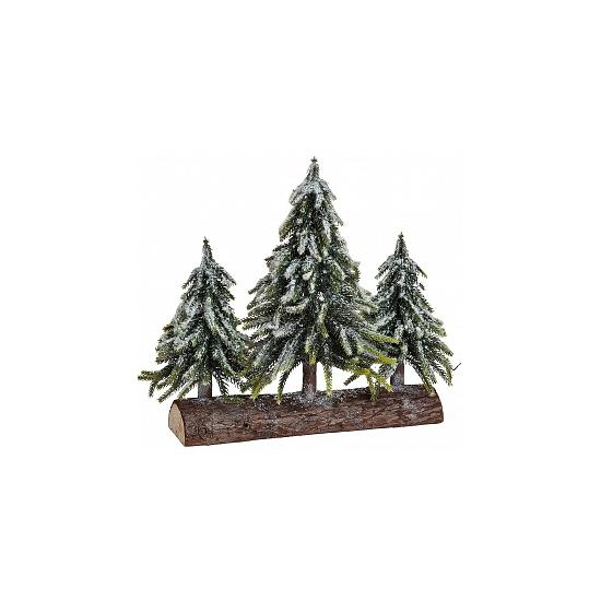 Een Decoratie Boomstam Met Kerstbomen Bellatio te koop aangeboden