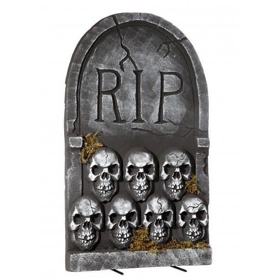 Halloween Grafsteen Rip Met Schedels 55 Cm kopen in de aanbieding