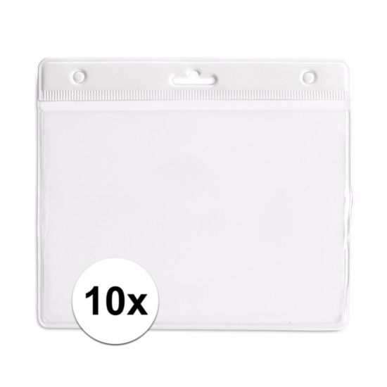 10 badgehouders wit 11,5 x 9,5 cm