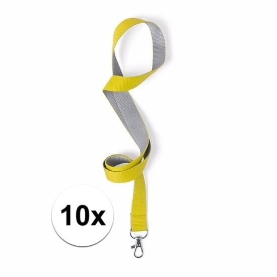 10 keycords geel/grijs 2 x 50 cm