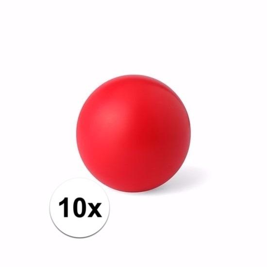 10 rode anti stressballetjes 6 cm
