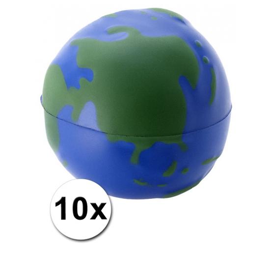 10 stressballetjes wereldbol