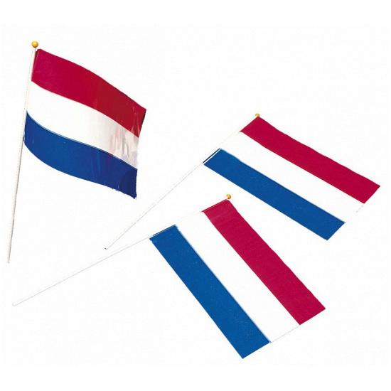 100x Holland zwaaivlaggetjes 39 cm