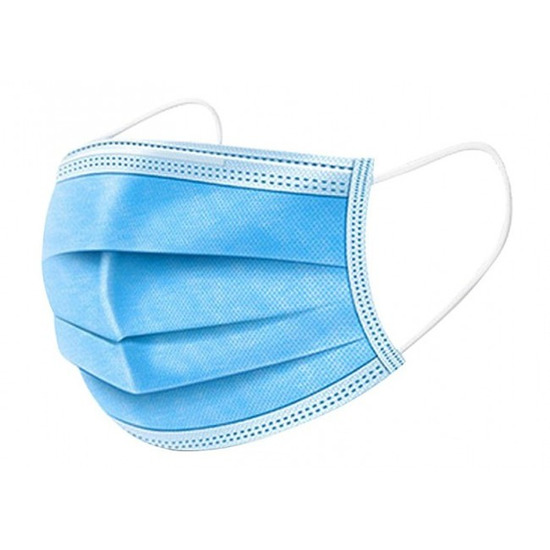 10x Beschermende mondkapjes blauw