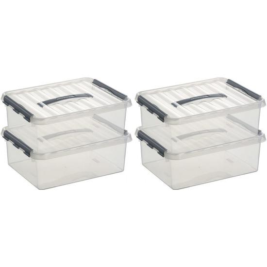 10x Opberg boxen/opbergdozen 12 liter 40 x 30 x 14 cm kunststof
