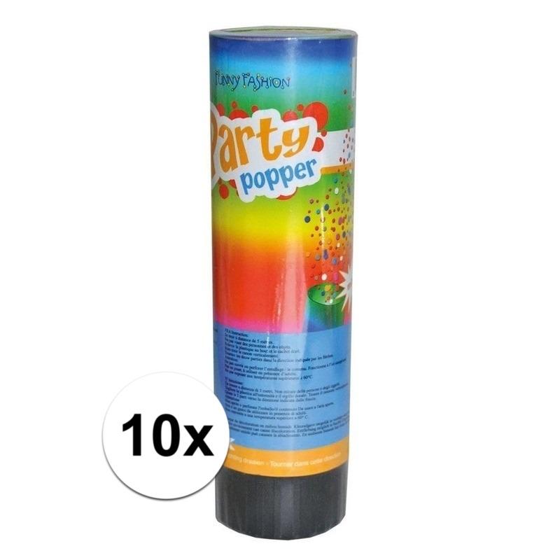 10x Party popper confetti 15 cm