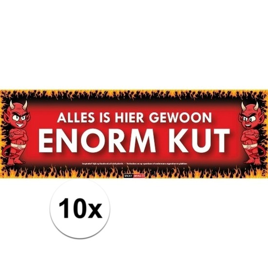 10x Sticky Devil Alles is hier gewoon enorm kut