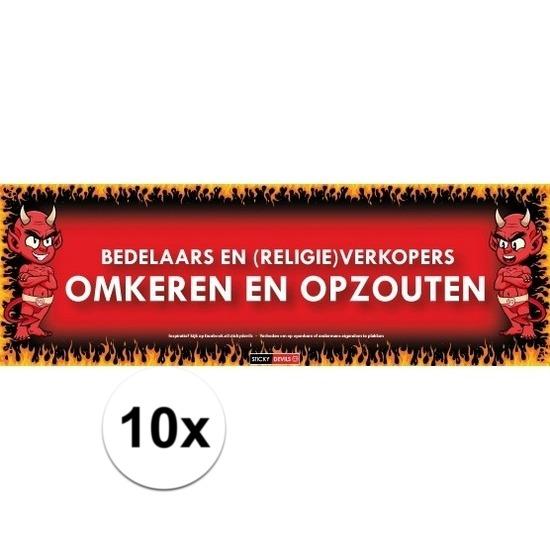 10x Sticky Devil Bedelaars en verkopers omkeren en opzouten
