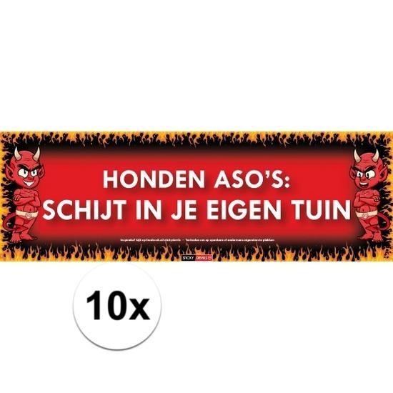 10x Sticky Devil Honden asos: schijt in je eigen tuin