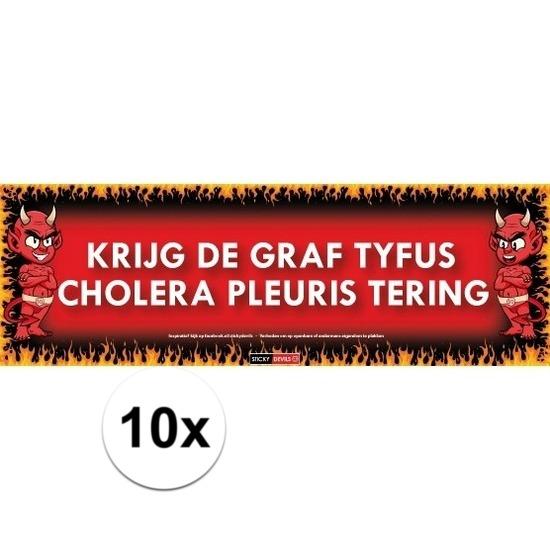 10x Sticky Devil Krijg de graf tyfus cholera pleuris tering