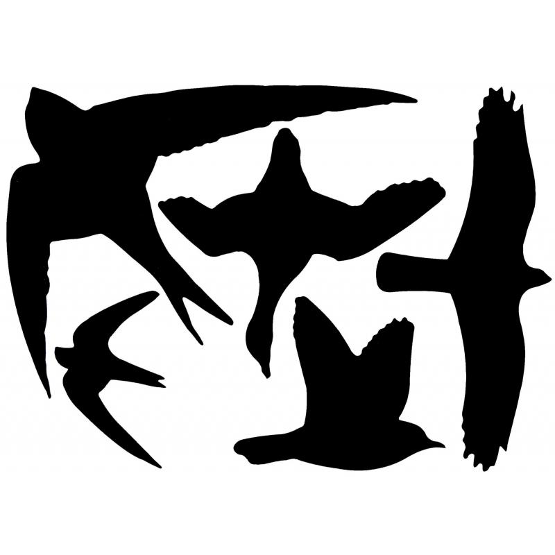 10x Vogel raamstickers 33 x 23 cm 5 stuks