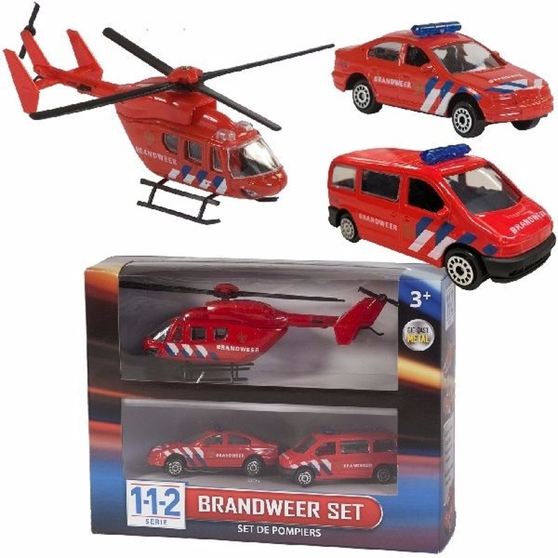 112 Brandweer Speelvoertuigen 3-delig