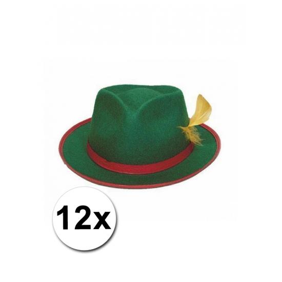 12 Tiroler hoedjes groen