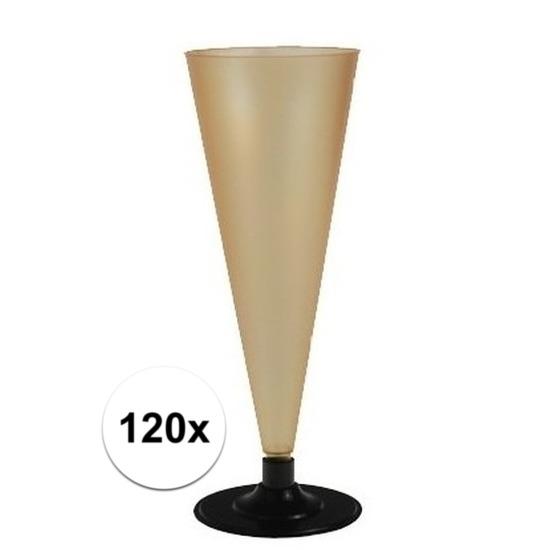 120 x Champagne glazen goudkleurig Goudkleurig
