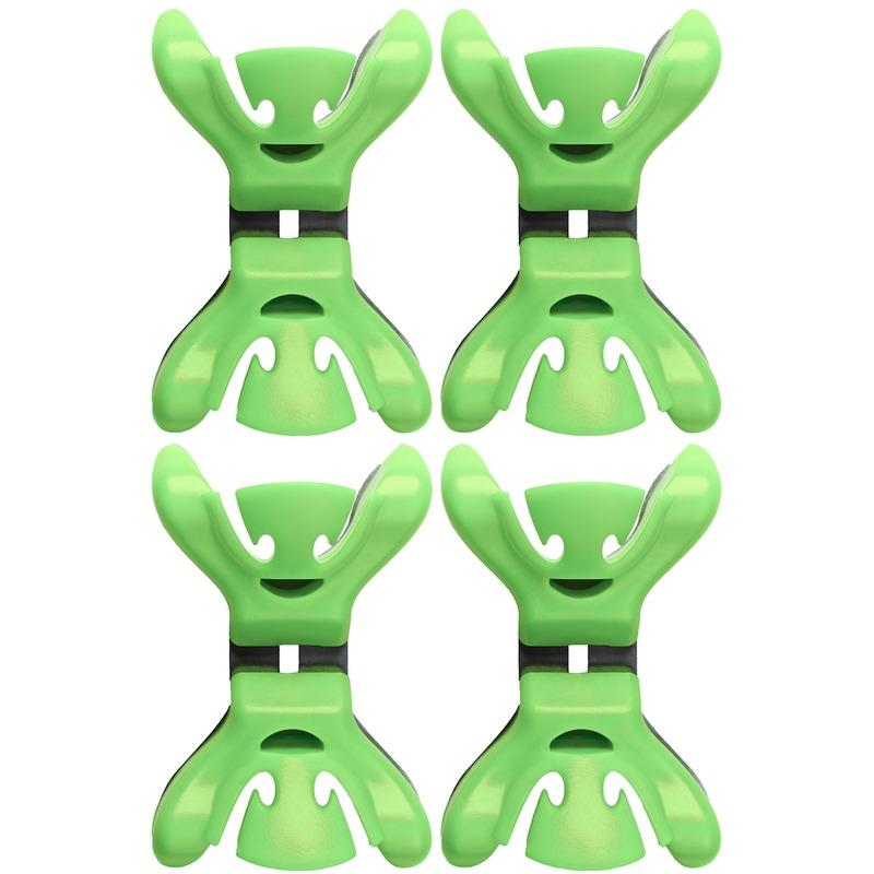 12x Slingers/decoratie ophangen slingerklemmen groen